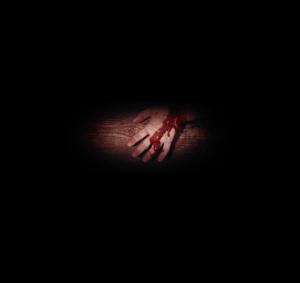 The nail-pierced hand